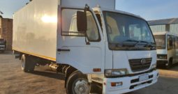 Nissan UD90 with Volume Van Body and Tail Lift